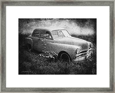 Clasic Car - Pen And Ink Effect Framed Print by Brian Wallace