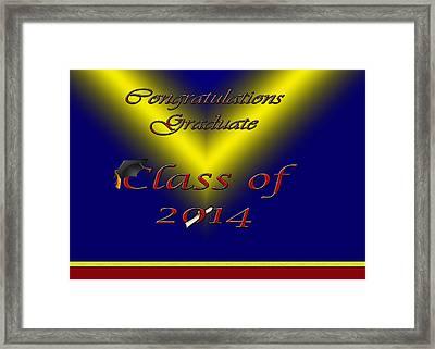 Class Of 2014 Card Framed Print