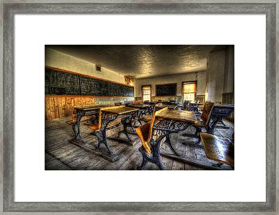 Class Framed Print by Ryan Smith