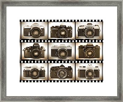 Classic 35mm S L R Cameras Framed Print