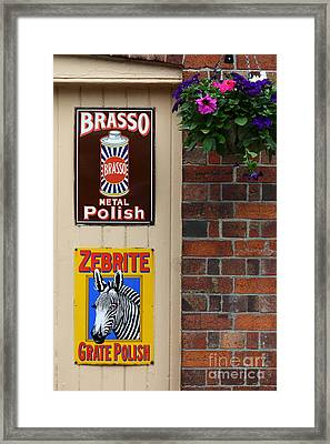 Classic Adverts Framed Print by James Brunker