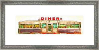 Classic Americana Diner Pop Framed Print by Edward Fielding