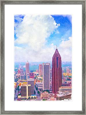 Classic Atlanta Midtown Skyline Framed Print by Mark E Tisdale