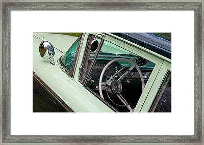 Framed Print featuring the photograph Classic Automobile Interior by Mick Flynn