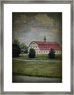 Classic Barn Manifico Framed Print by Kathy Clark
