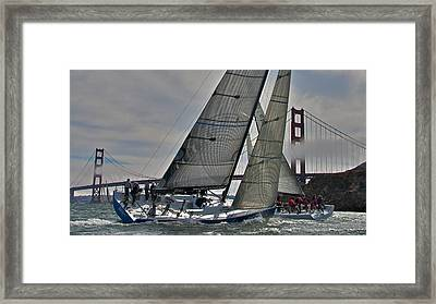 Classic Bay Yachting Framed Print by Steven Lapkin