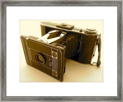Classic Bellows Folding Camera Framed Print