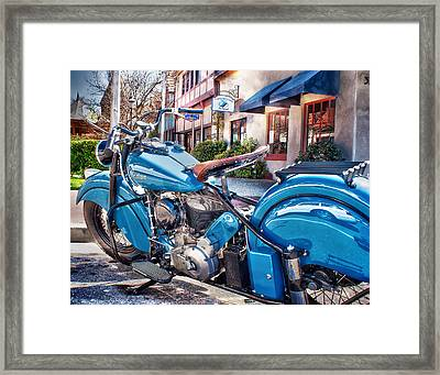 Framed Print featuring the photograph Classic Blue Indian Chief by Steve Benefiel