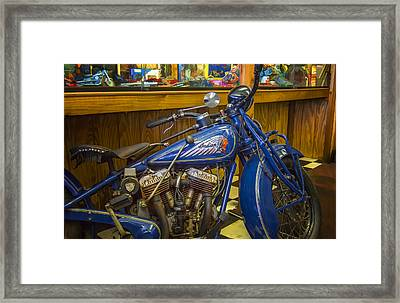 Framed Print featuring the photograph Classic Blue Indian  by Steve Benefiel