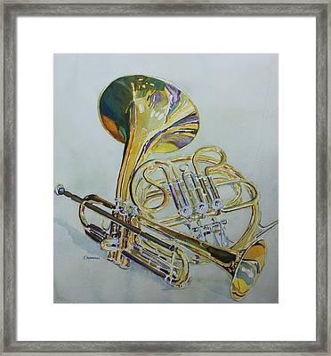 Classic Brass Framed Print by Jenny Armitage