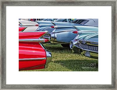 Classic Caddy Fin Party Framed Print by Edward Fielding