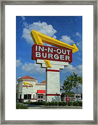 Classic Cali Burger 1.1 Framed Print by Stephen Stookey