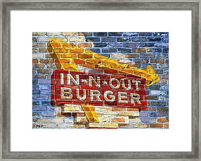 Classic Cali Burger 2.1 Framed Print