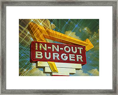 Classic Cali Burger 2.3 Framed Print by Stephen Stookey