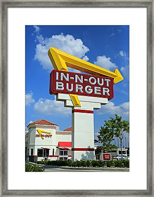 Classic Cali Burger Framed Print by Stephen Stookey