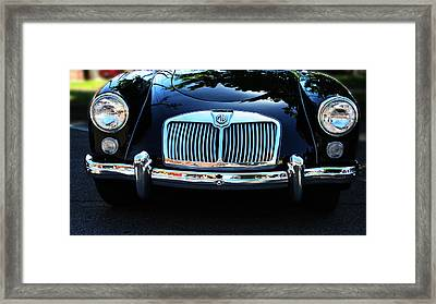 Classic Car Art - Vintage Mg Grill View Framed Print