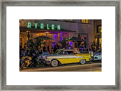 Classic Car At The Avalon Framed Print