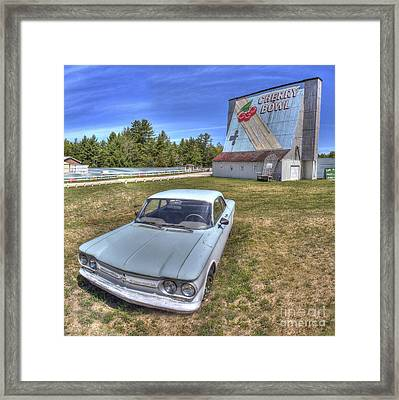 Classic Car At The Drive-in Framed Print