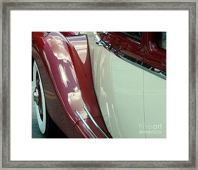 Classic Car Fender Framed Print by Donna Cavanaugh