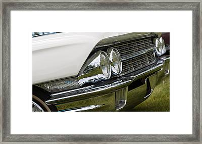 Framed Print featuring the photograph Classic Car Front Wing And Lights by Mick Flynn
