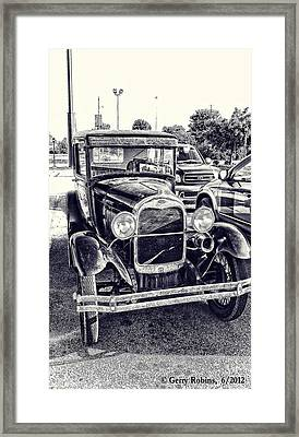 Classic Car Framed Print by Gerry Robins