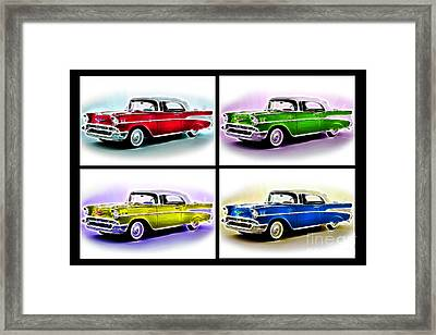 Classic Car Pop Art Framed Print by Jo Collins