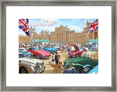 Classic Car Show At Blenheim 2015 Framed Print by Steve Crisp