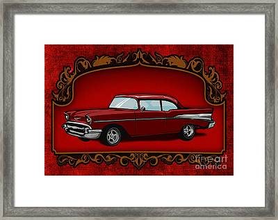 Classic Cars 01 Framed Print by Bedros Awak