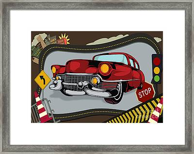 Classic Cars 05 Framed Print by Bedros Awak