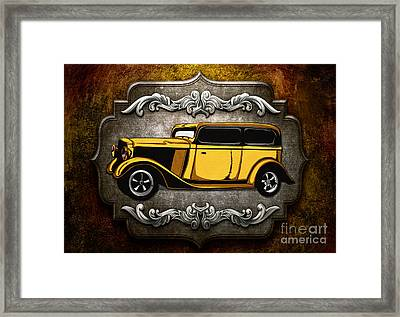Classic Cars 06 Framed Print by Bedros Awak