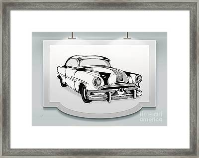 Classic Cars 07 Framed Print by Bedros Awak