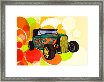 Classic Cars 09 Framed Print by Bedros Awak