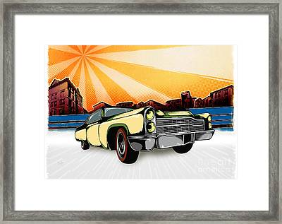 Classic Cars 10 Framed Print by Bedros Awak