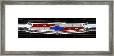 Classic Chevrolet Emblem Framed Print by Mike McGlothlen