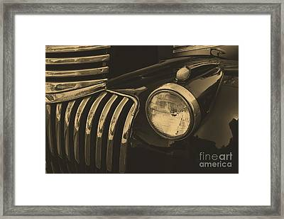 Framed Print featuring the photograph Classic Chevy One by John S
