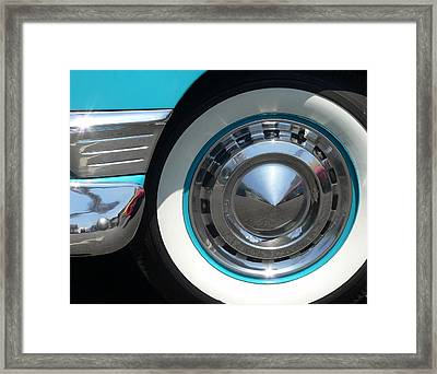 Framed Print featuring the photograph Classic Chevy Wagon by Jeff Lowe