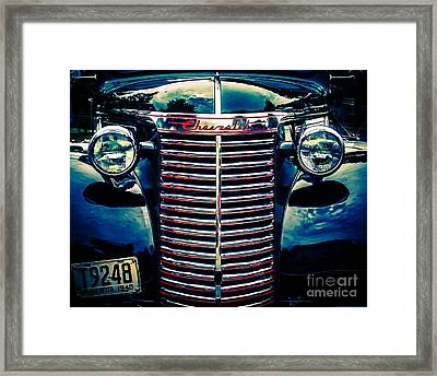 Classic Chrome Grill Framed Print by Perry Webster