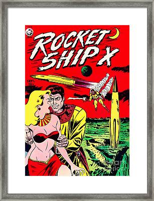 Classic Comic Book Cover - Rocket Ship X - 1225 Framed Print