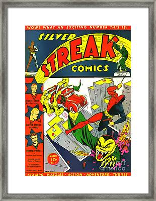 Classic Comic Book Cover - Silver Streak Comics Daredevil - 0320 Framed Print by Wingsdomain Art and Photography