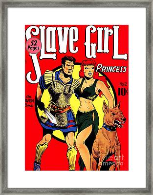Classic Comic Book Cover - Slave Girl Princess - 1110 Framed Print by Wingsdomain Art and Photography