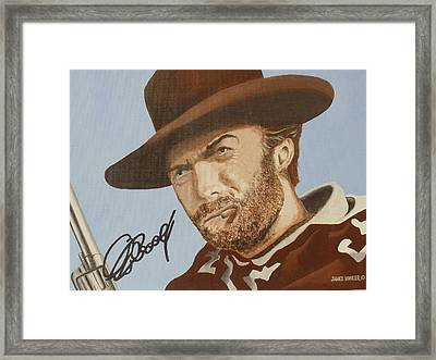 Classic Cool Clint Framed Print by James Lawler