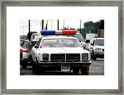 Classic Cop Car Framed Print by Optical Playground By MP Ray