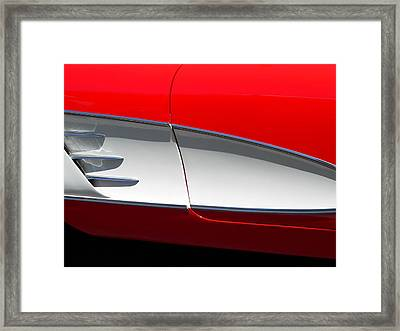 Framed Print featuring the photograph Classic Corvette Art by Jeff Lowe