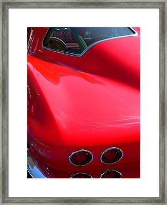 Framed Print featuring the photograph Classic Corvette Art Lines by Jeff Lowe