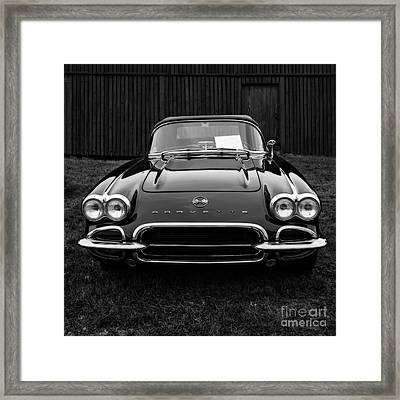 Classic Corvette Framed Print by Edward Fielding