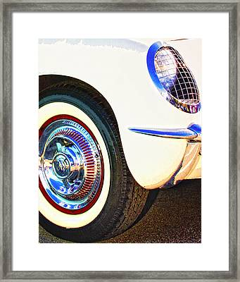 Classic Corvette Palm Springs Framed Print