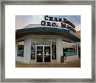 Classic Cowtown Burger Joint Framed Print