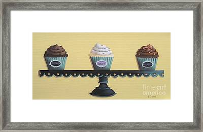 Classic Cupcakes Framed Print by Catherine Holman