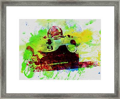 Classic Ferrari On Race Track Framed Print by Naxart Studio