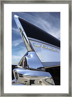 Classic Fin - 57 Chevy Belair Framed Print by Mike McGlothlen